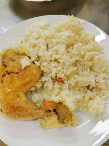 Пилешко бутче с ориз